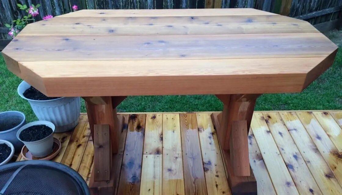 Heavy Duty Rustic Outdoor Table