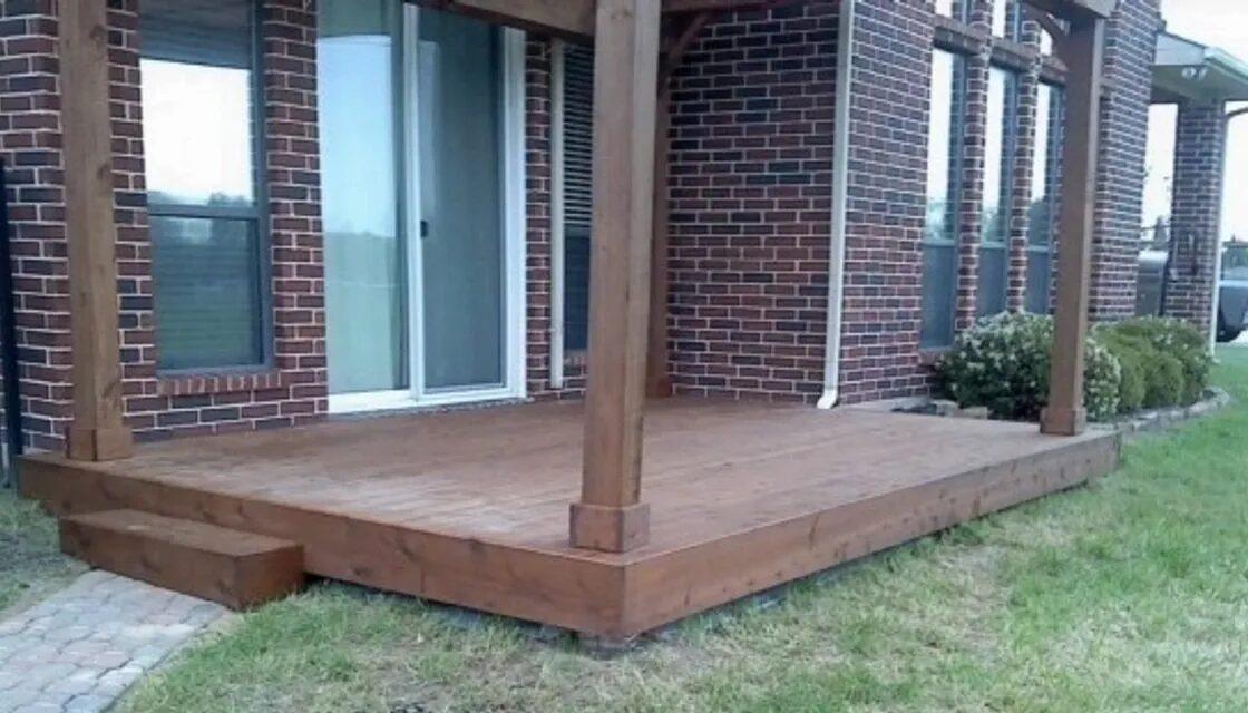 Cedar Deck Build Under Existing Patio Cover, Allen Rustic Wood Designs