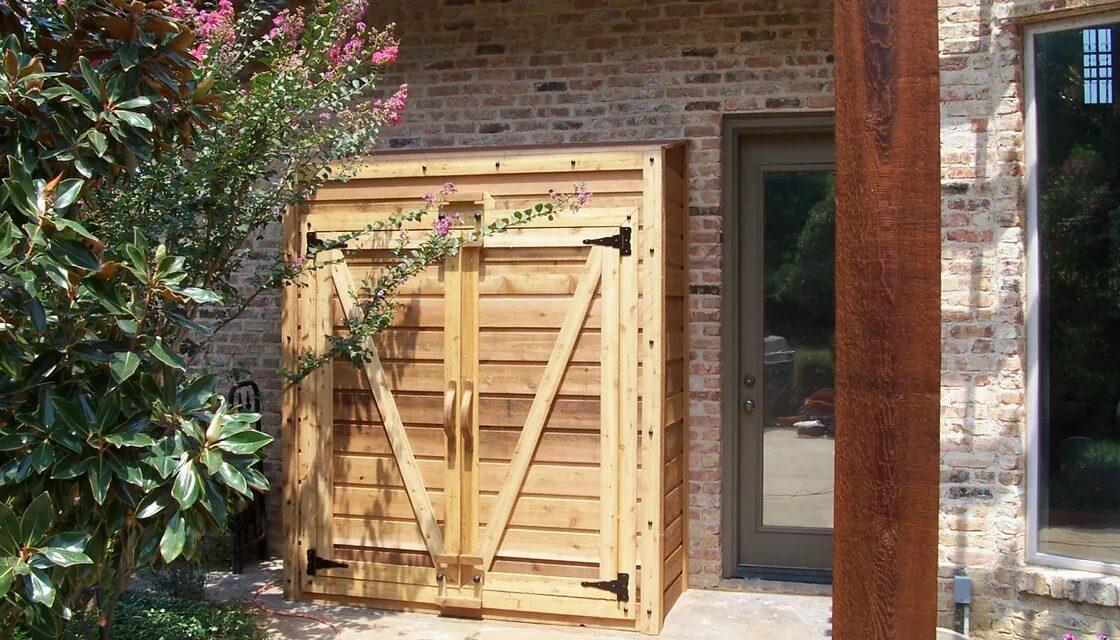 Cedar Pool Supply Storage, Allen Rustic Wood Designs