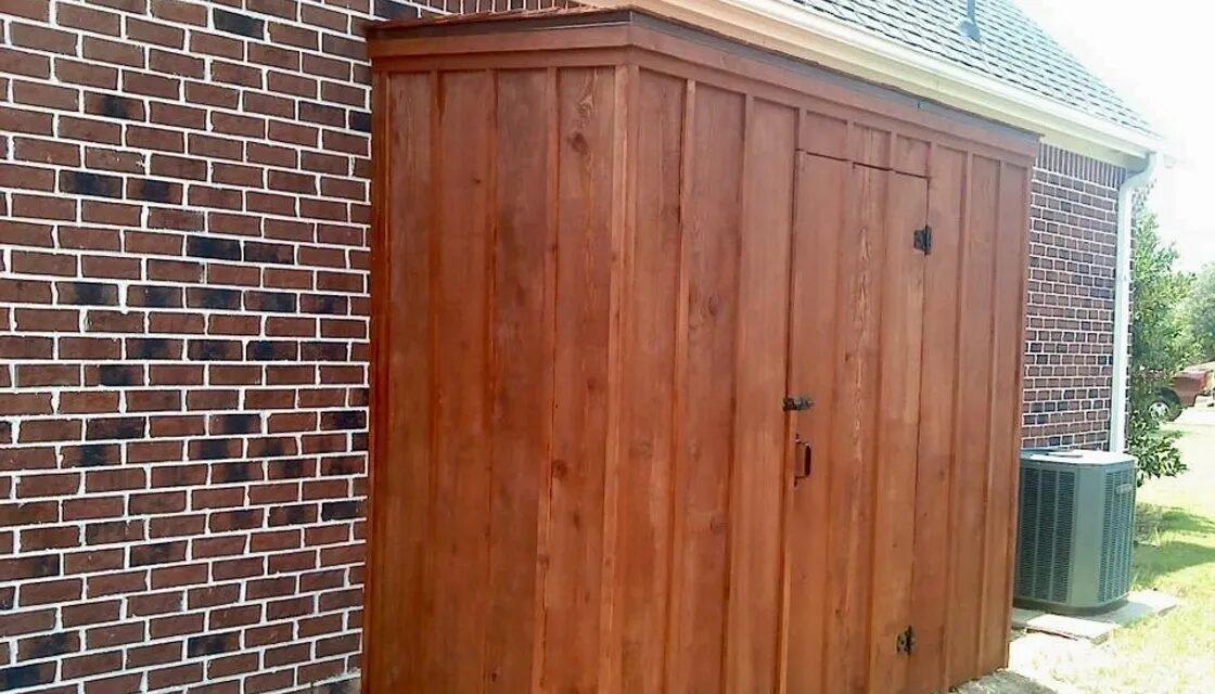 Cedar Storage Shed For Garden Tools, Rockwall, TX., Allen Rustic Wood Designs